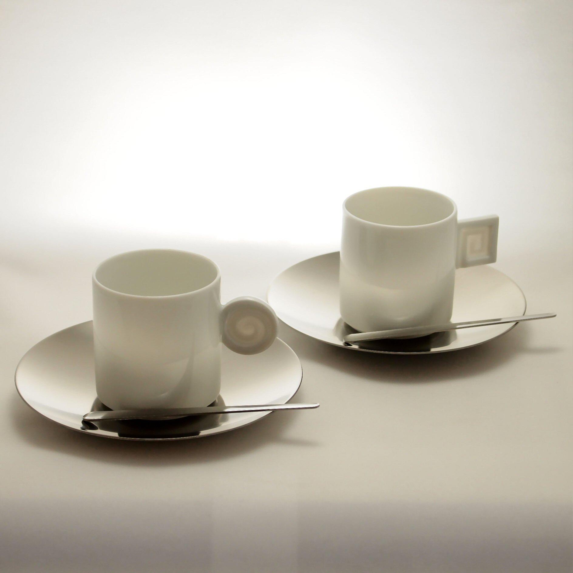 モノ エスプレッソ コーヒーカップ と ソーサーのペアセット mono Espresso Coffee Cup & Saucer Pair Set