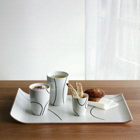 menu Thermo mug cup middle pair set