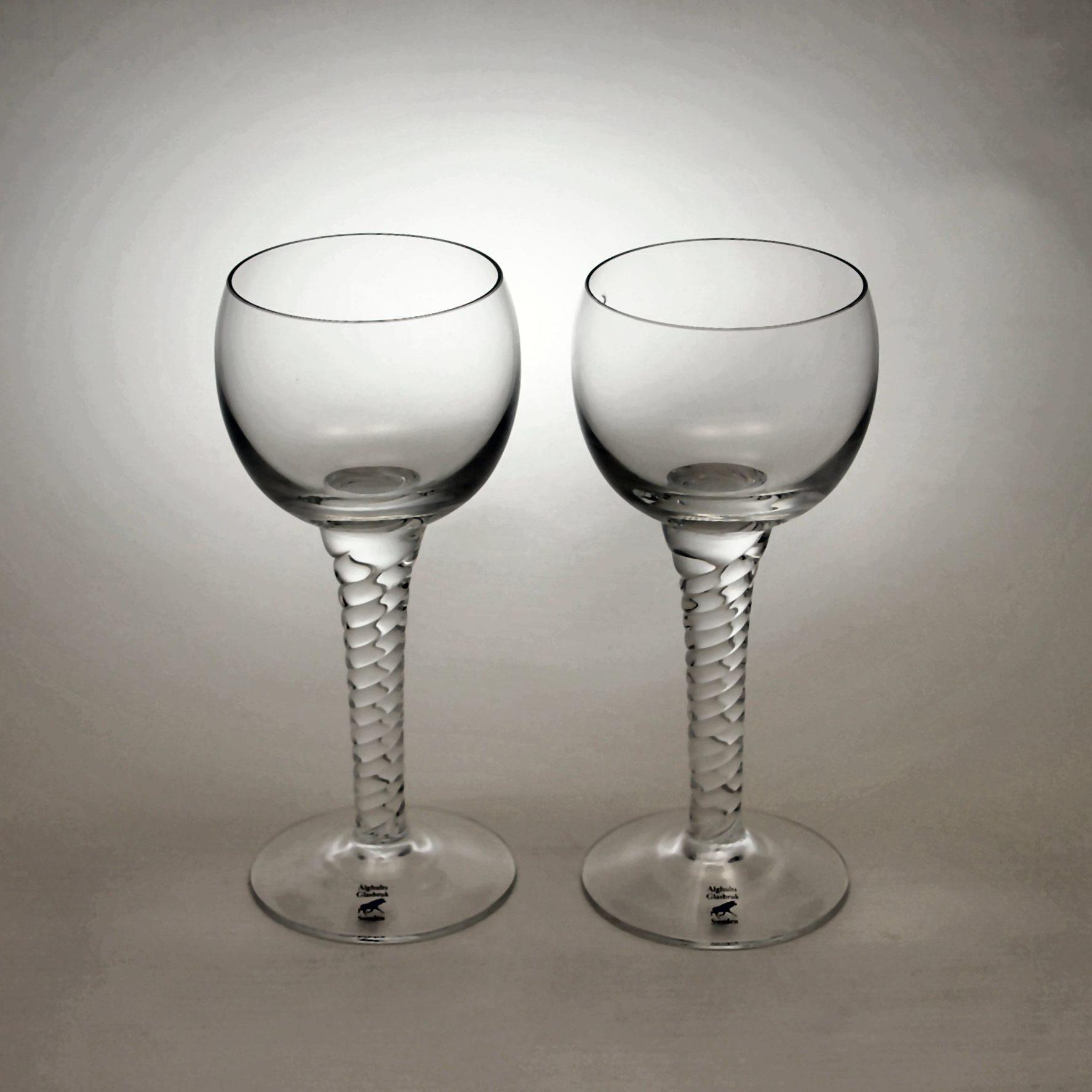 アルグハルト ツイスト シェリーグラス ペア Alghult Twist Sherry glass