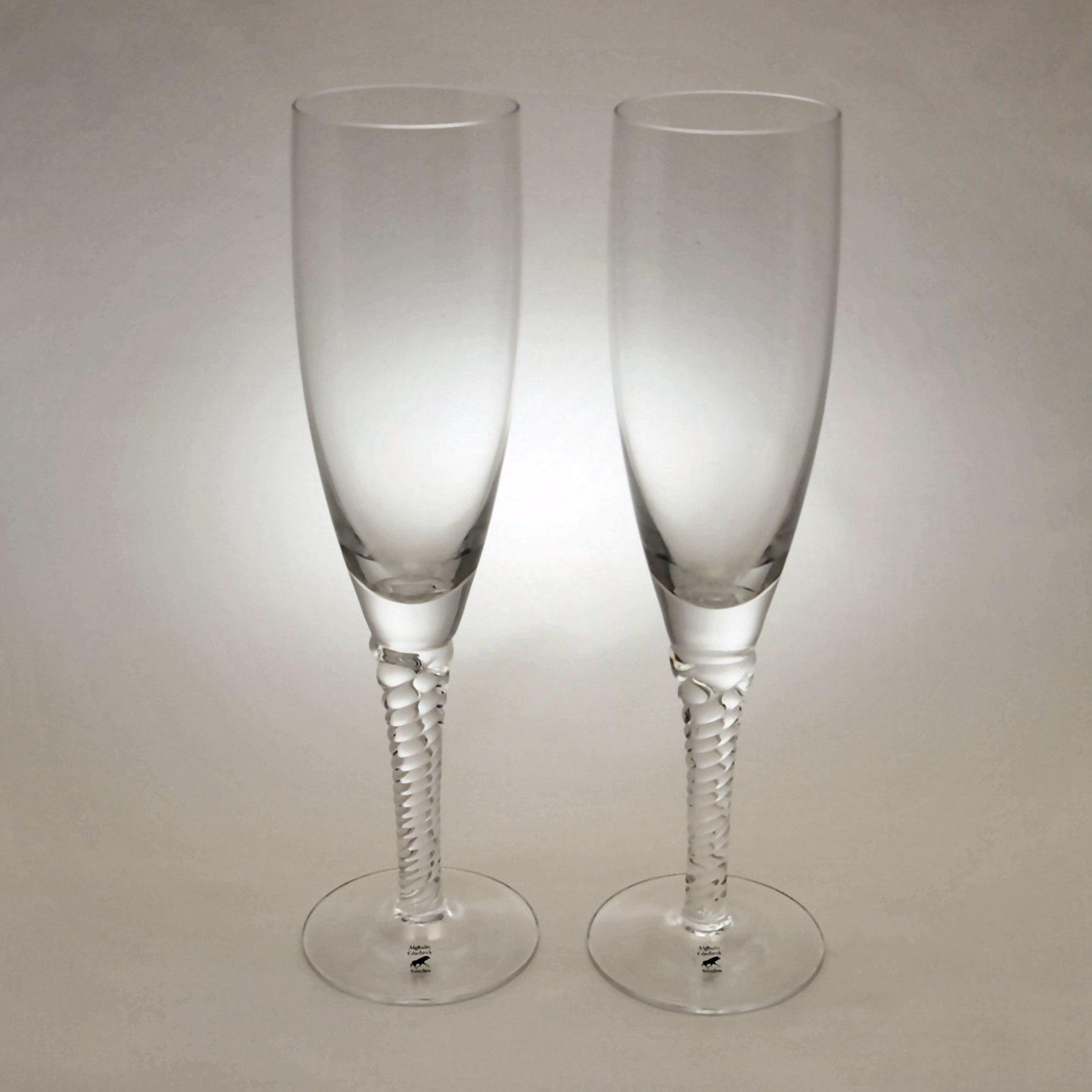アルグハルト ツイスト シャンパン グラス ペア Alghult Twist Champagne glass