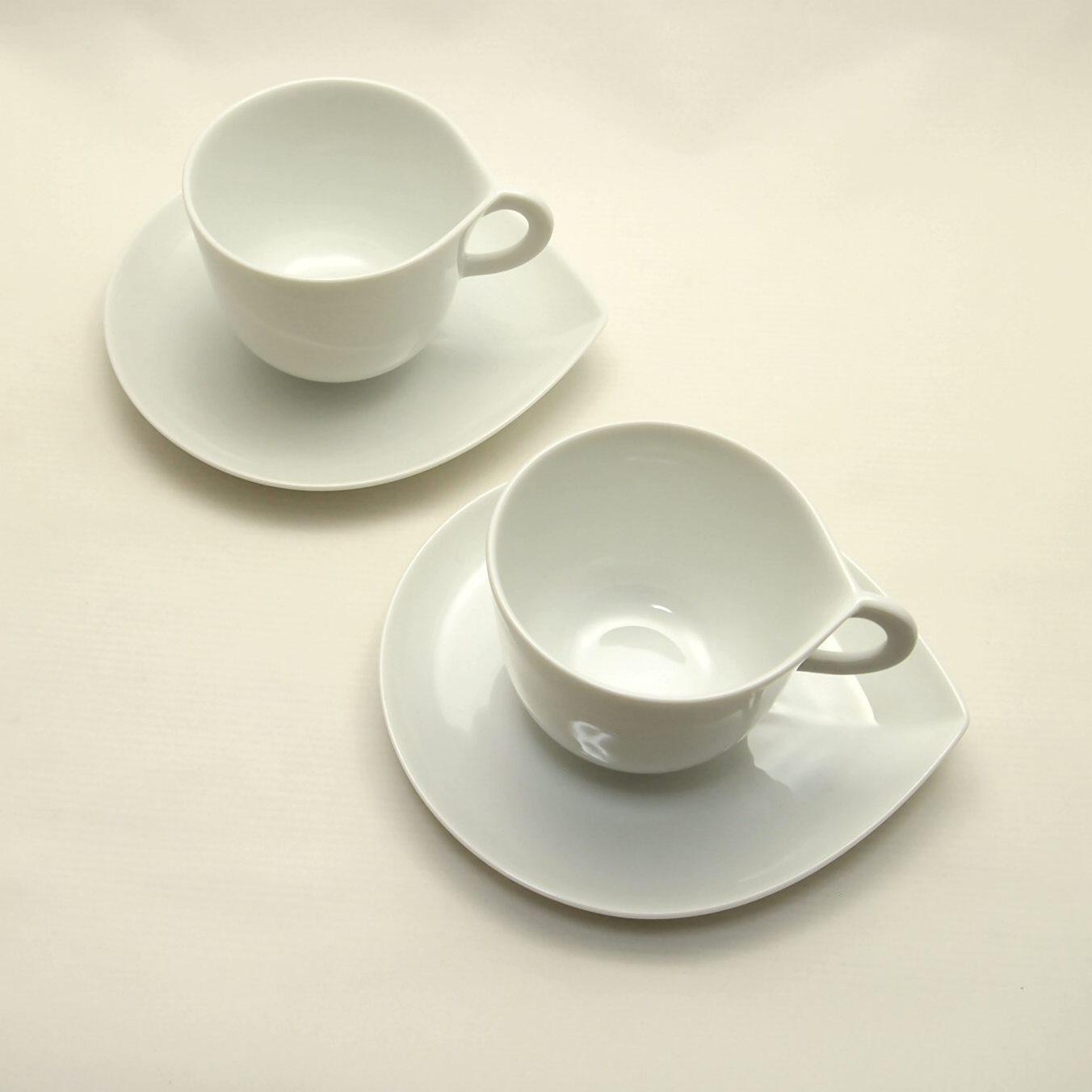 深山 ドロップ コーヒーカップとソーサのペア