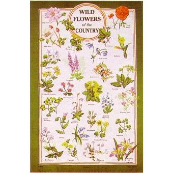 英国製のティータオル ワイルドフラワー Tea Towel Wild flower of the country