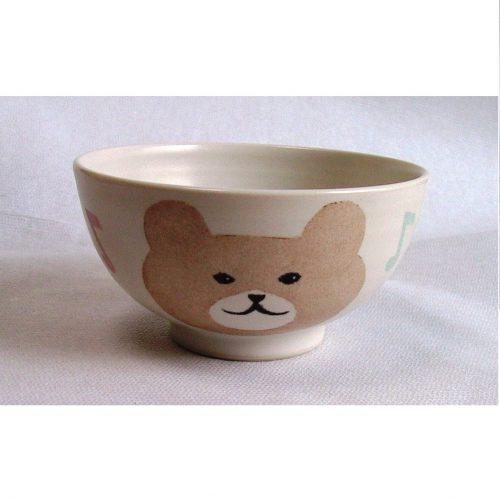 九谷焼 子供食器 お茶碗 くま